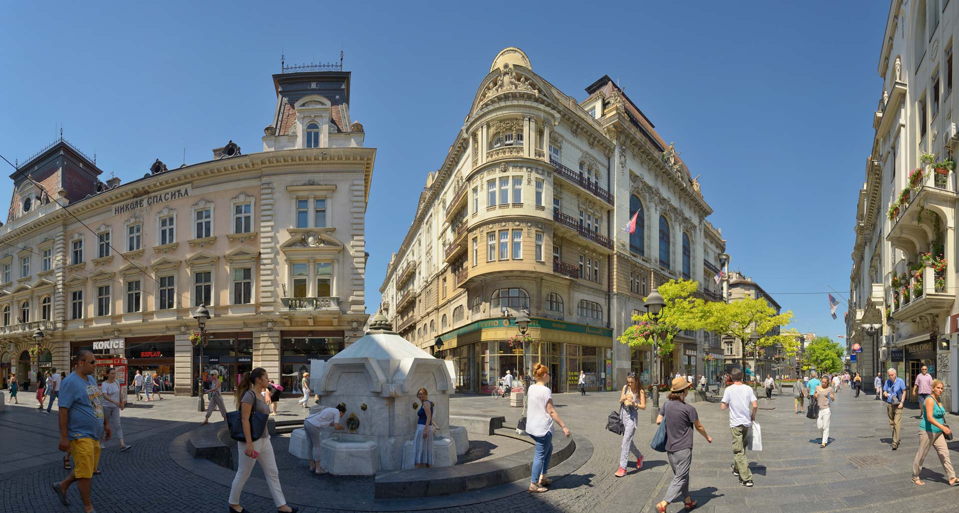 Knez Mihailova Street, Belgrade center