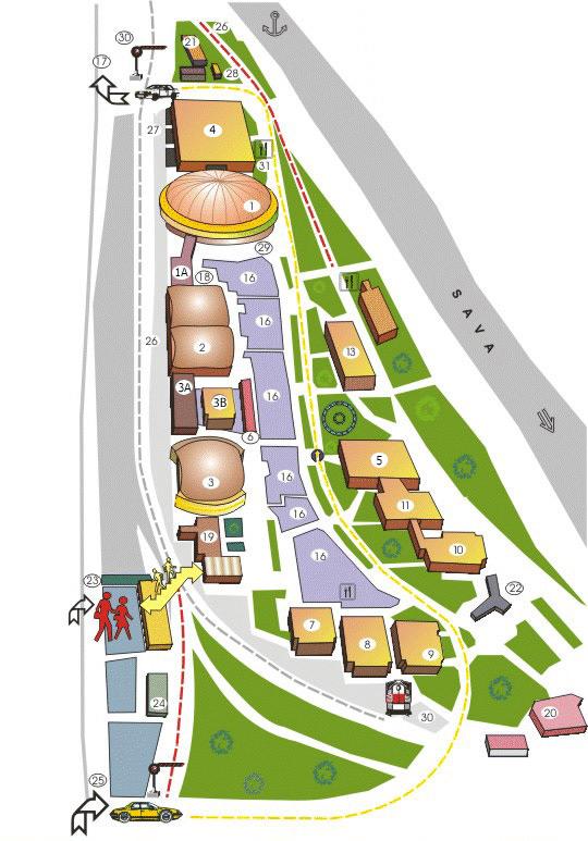 mapa beograda sajam Изложбене хале – Beogradski sajam mapa beograda sajam