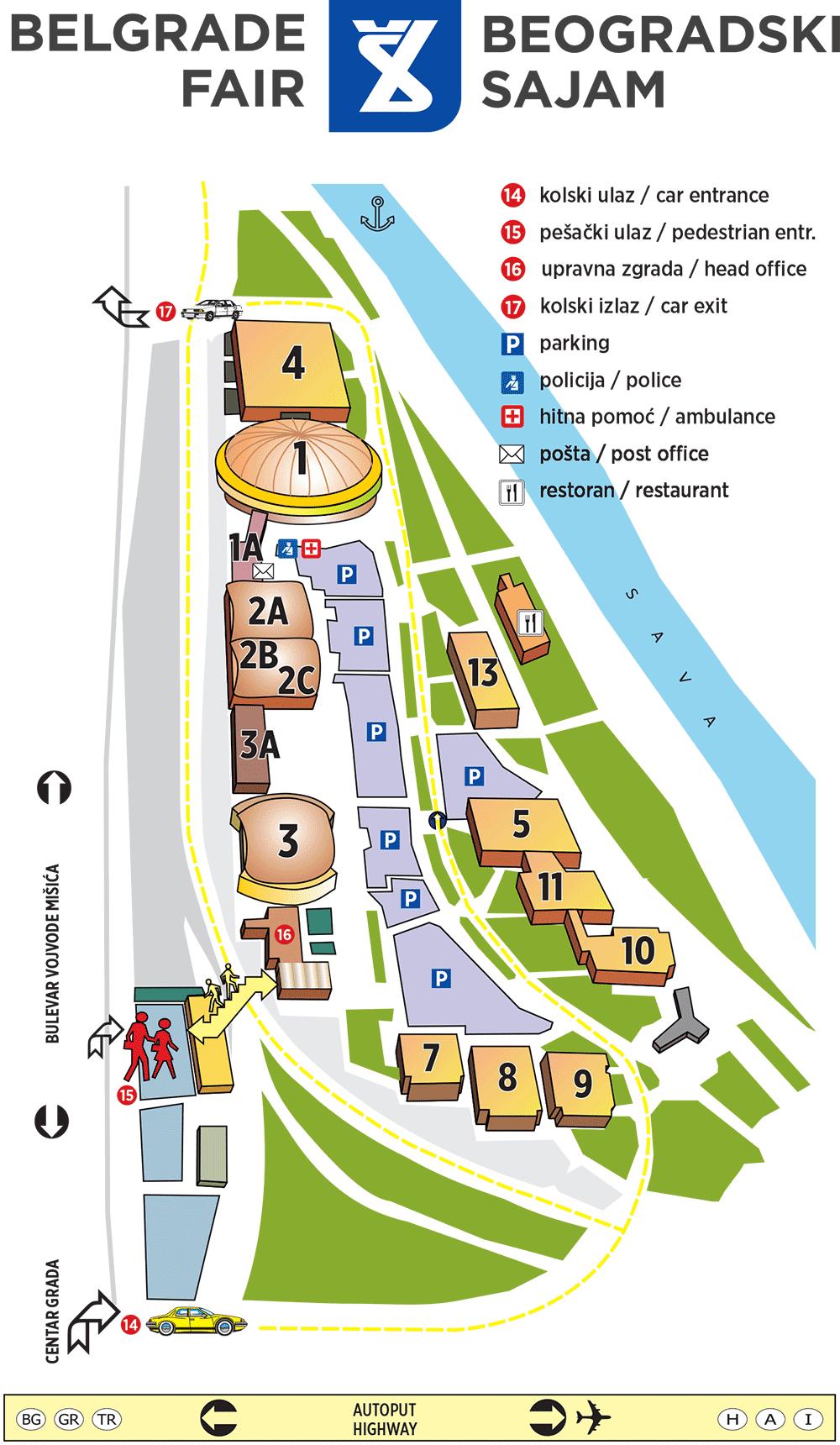Belgrade Fair Map