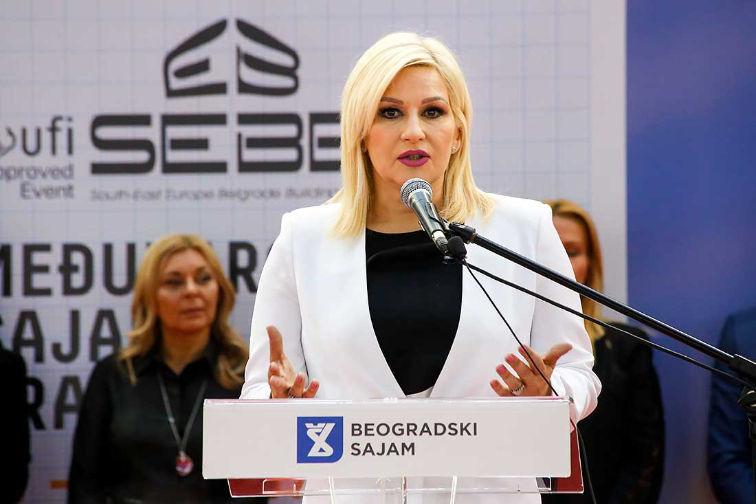 Ministarka Zorana Mihajlovic otvorila Sajam gradjevinarstva