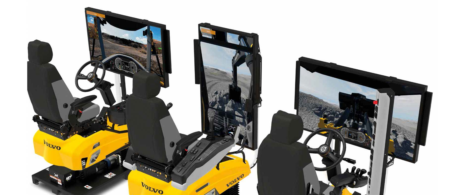 Virtuelni simulator za obuku za rad na VOLVO građevinskim mašinama