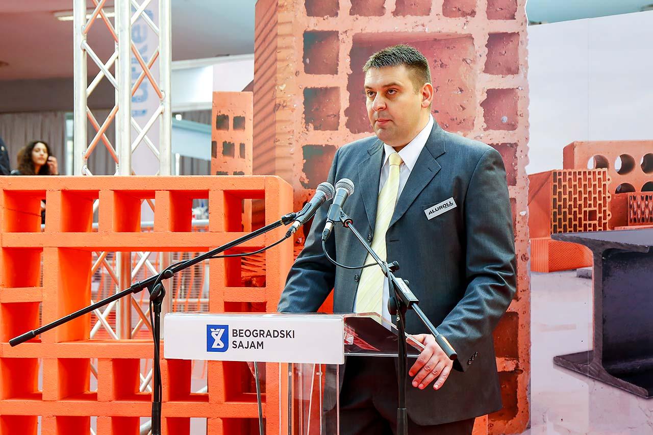 Predrag Vučićević, predstavnik kompanije Aluroll